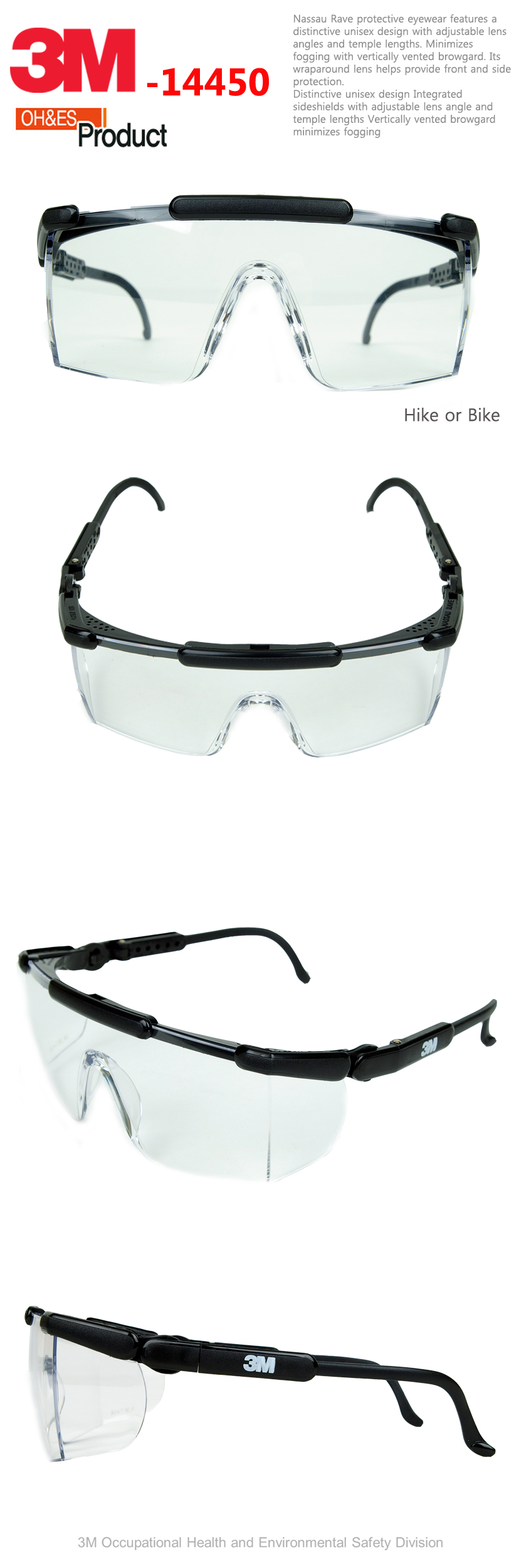 Eyeglass Frame Manufacturers United States : 3M Nassau Rave Protective Eyewear, 14450 Clear Lens ...
