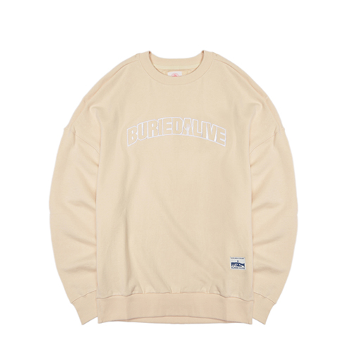 [단독30%할인] [Buried Alive] Ba Basic Crewneck_Ivory
