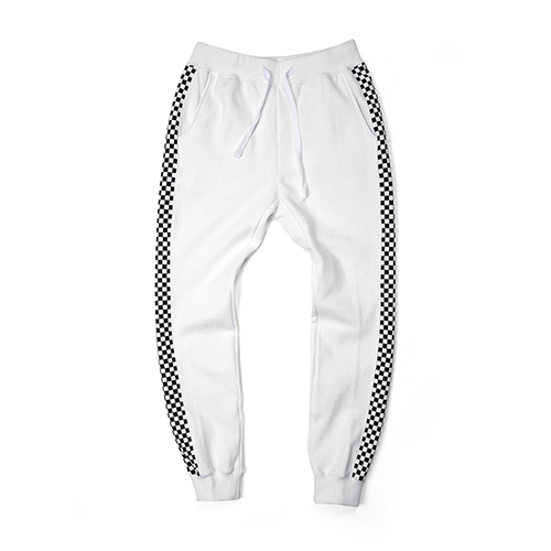 [단독30%할인] [Buried Alive] Ba 15 Checkers Sweat Pants_White